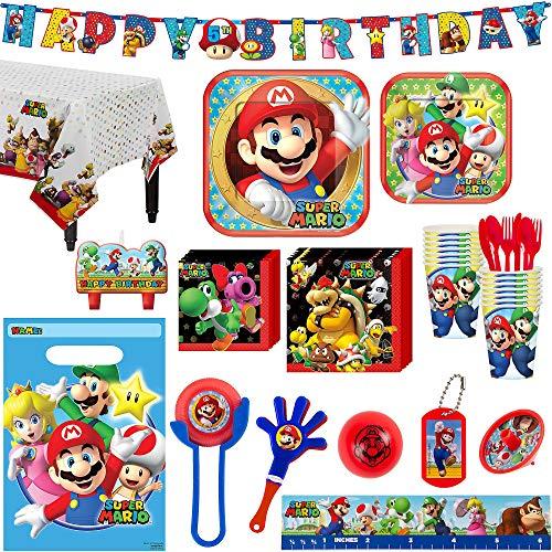 Super Mario Birthday Party Kit, Includes Happy Birthday