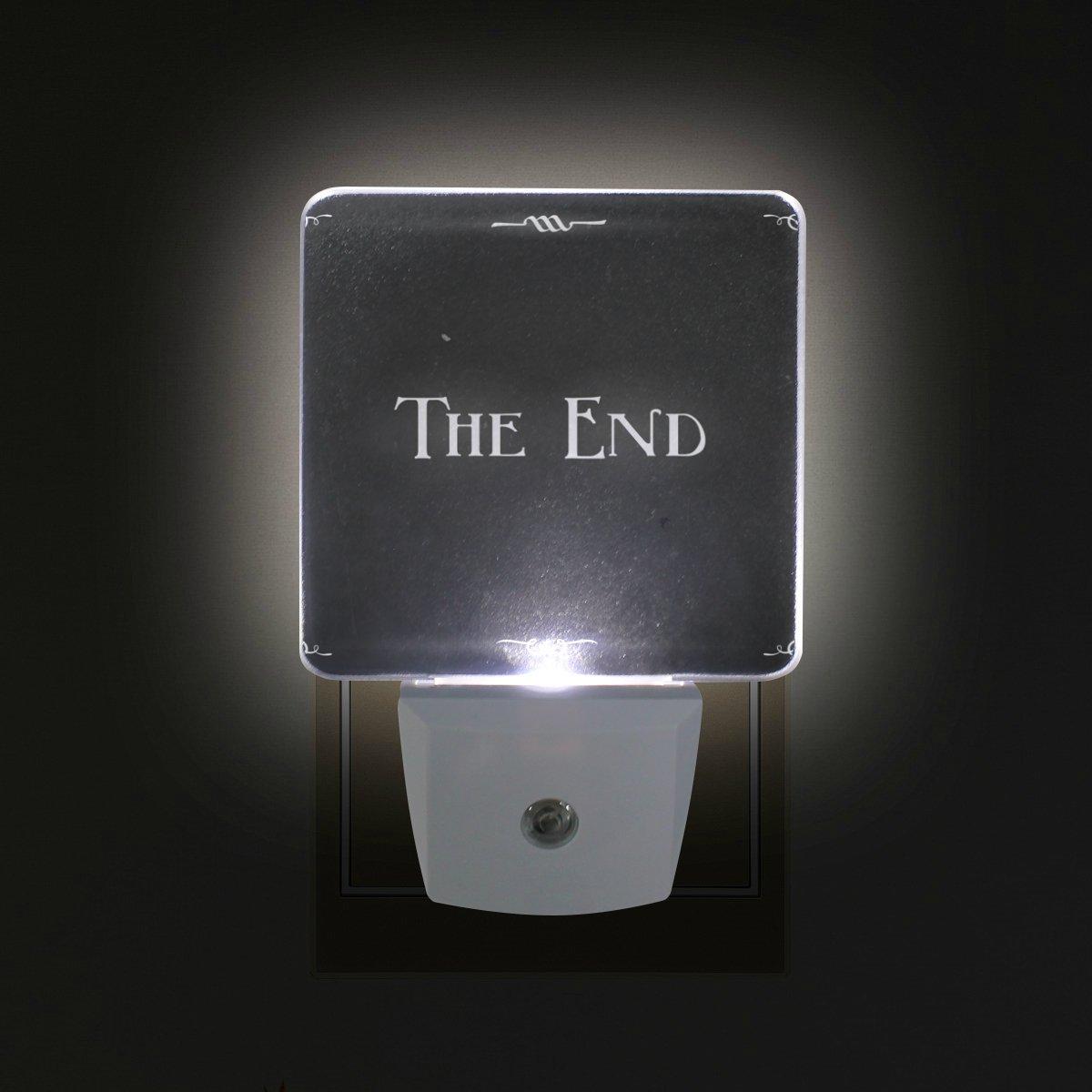 ALIREA Movie Ending Screen Plug in LED Night Light Auto Sensor Smart Dusk to Dawn Decorative Night for Bedroom, Bathroom, Kitchen, Hallway, Stairs,Hallway,Baby's Room, Energy Saving