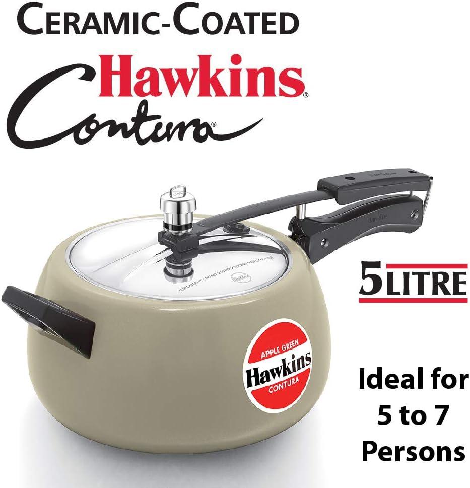Hawkins Contura Pressure Cooker, 5 L, Apple Green