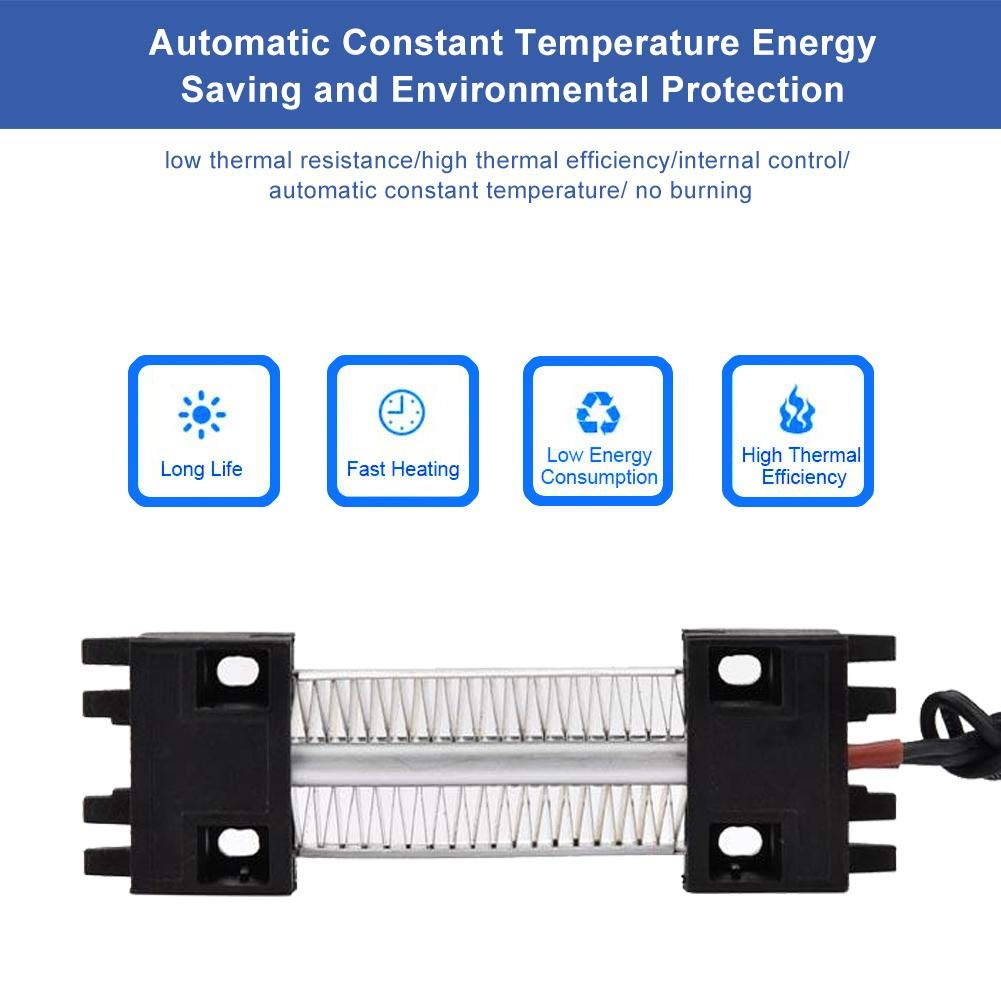 Heizelement 100W 220V Isoliertes PTC Ceramic Aluminiumrohr-Luftheizungszubeh/ör Zetiling PTC Ceramic Air Heater