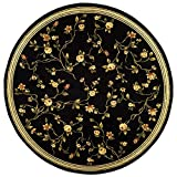 Cheap Safavieh Lyndhurst Collection LNH220A Traditional Floral Black Round Area Rug (5'3″ Diameter)