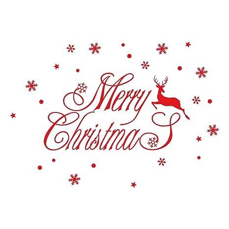 YWLINK AñO Nuevo Feliz Navidad Etiqueta De La Pared Inicio ...