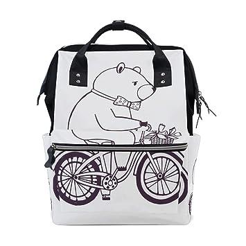 Suave Encantador Ciclismo Oso pequeño Bolsas de pañales de ...