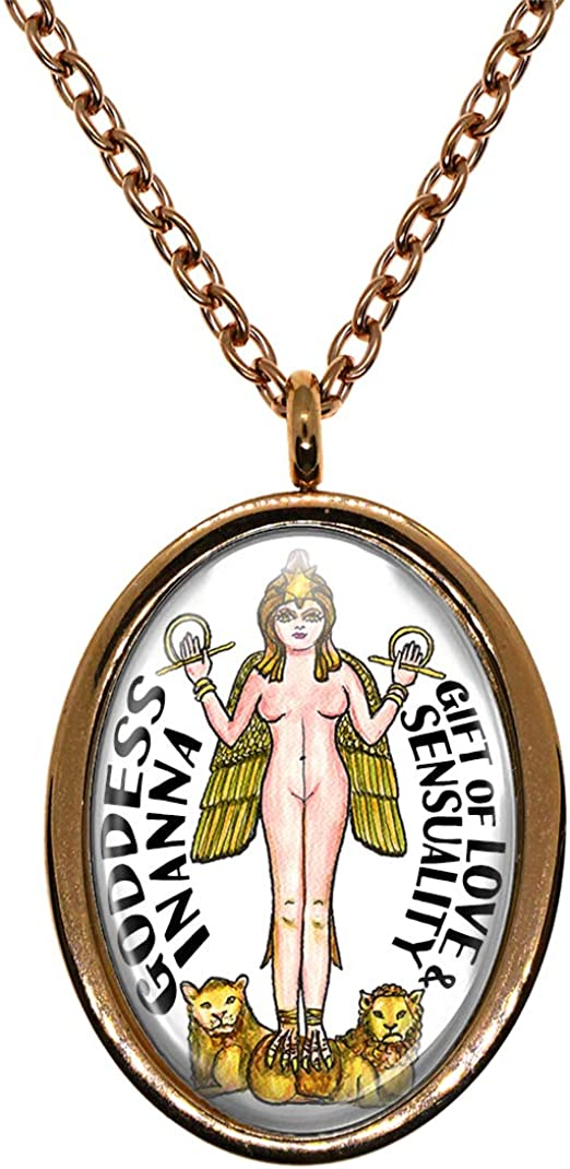 My Altar Goddess Inanna Gift of Love /& Sensuality Rose Gold Stainless Steel Pendant Necklace