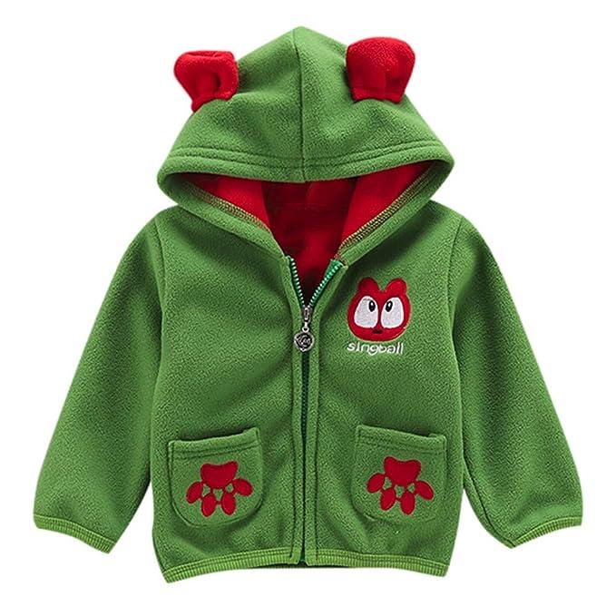 b396b77c01238e Abbigliamento Bambini 3 Anni,Vendita Calda Bambino Ragazzo Cartone Animato  Lungo Manica Felpa con Cappuccio Vello Inverno Caldo Abiti Cappotto:  Amazon.it: ...