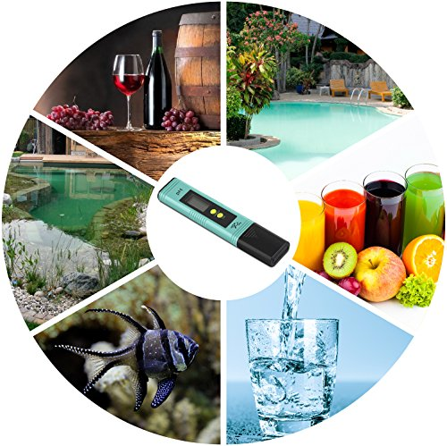 PH Meter with Automatic Calibration - 7Pros High Accuracy Pen Type Water Quality Tester, 6 pH Buffer Powder Packets, Best Tool for Testing PH of Fish Tank, Pool, Pond, Kombucha, Wine, Drinking Water by 7Pros (Image #4)