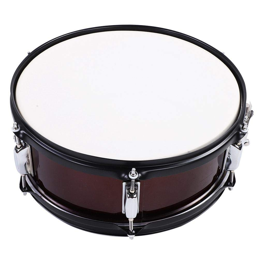 Snare Drum, Percussion Snare Drum Kit with Drumstick Drum Key and Bag(wine red) by Dilwe