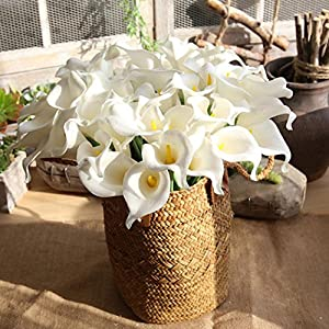 Artificial Flowers,Vibola® 5 PCS PU Mini Calla Lily Fake Flower for symbolize piety,love forever girl friends (not include Vase) 8