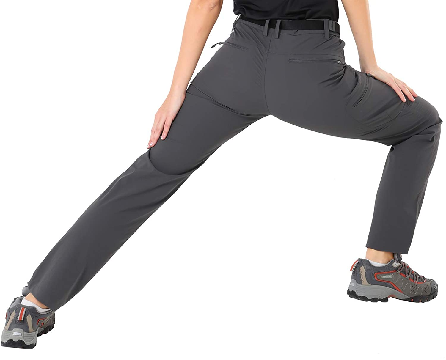 5 Zip Pockets MIER Womens Quick Dry Hiking Pants Lightweight Stretch Cargo Tactical Pants Water Resistant