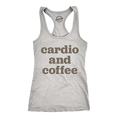 fceb851e7d708 Crazy Dog T-Shirts Womens Cardio and Coffee Tank Top Funny Morning Workout  Tank for