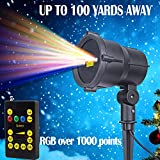 Zitrades Landscape Lights Laser Christmas Party Garden Light Stars Firefly Projector Indoor Outdoor Lighting with Wireless Remote Control IP65 RGB for Patio Backyard Tree Wall House Decoration