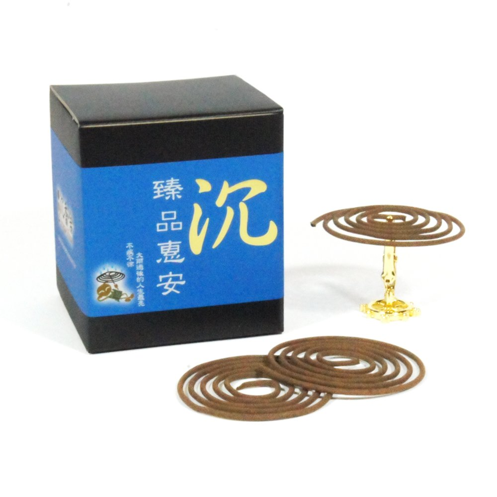 ZenPin Hoi-An Agarwood Aloeswood Incense Coils (1) by IncenseHouse - Incense Coils (Image #1)