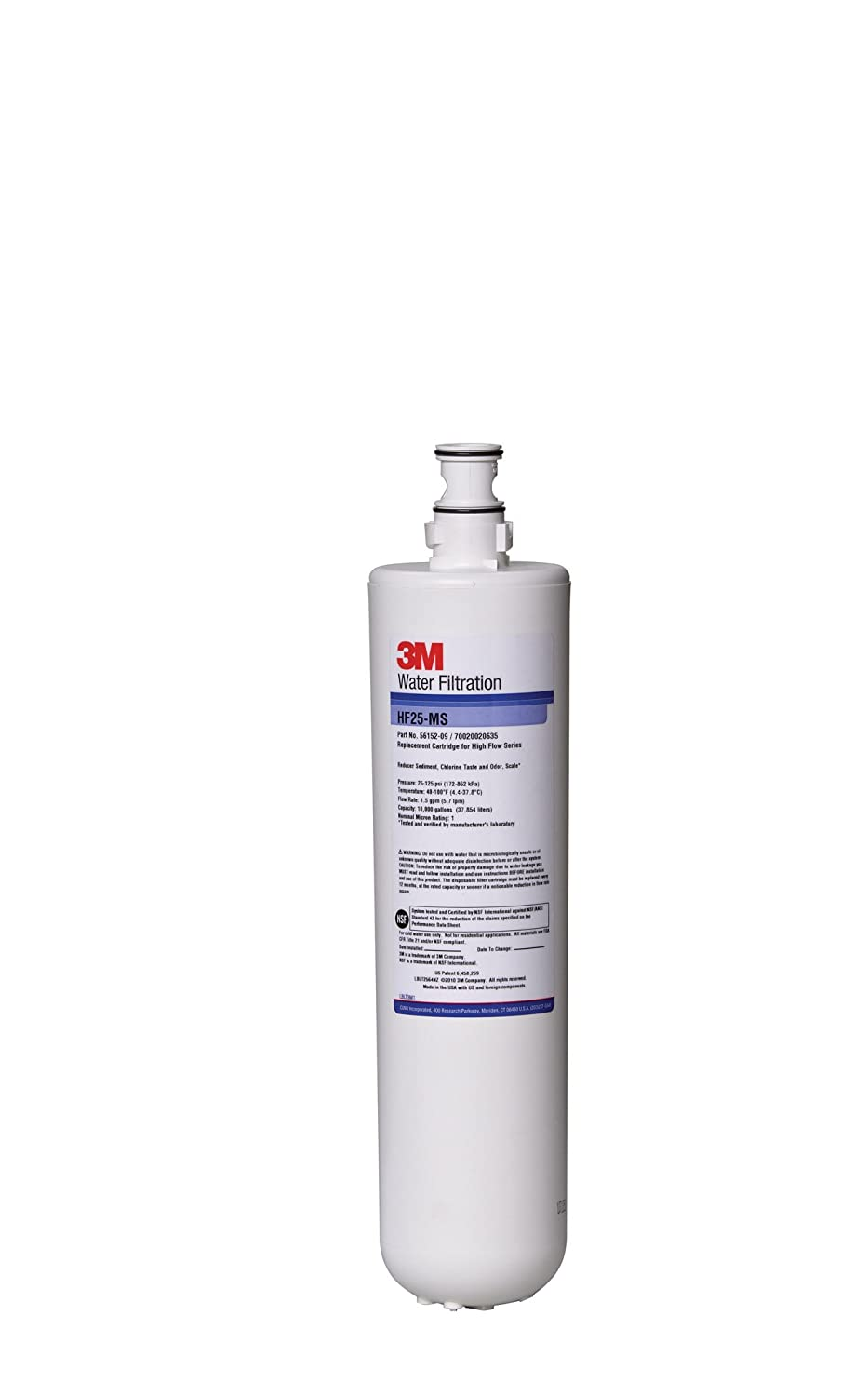 3M Purification Food Service HF25 MS 5615209 High Flow Series Filter Cartridge Water Filtration Products Pack of 6