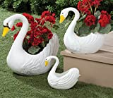 Swan Planters Set OF 3 XL