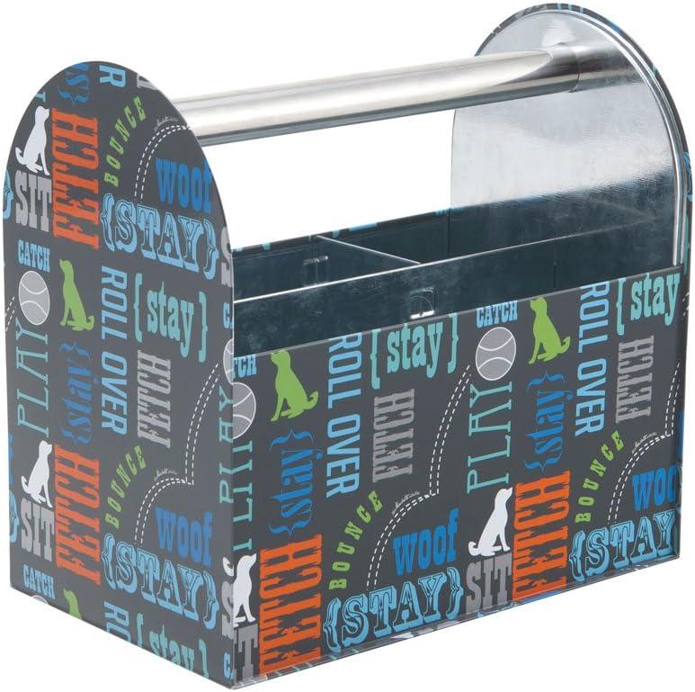 Paw Prints 37591 Word Design Tin Supply Caddy, 5.13