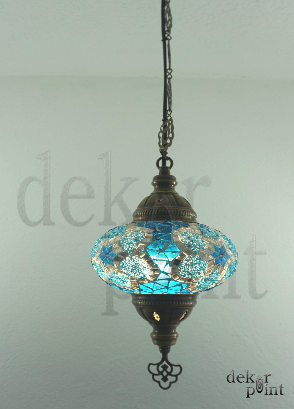 Hecha a mano con motivos orientales Turco mosaico cristal colgante l/ámpara l/ámpara de interior 16156/ // /l/ámpara de exterior mano iluminaci/ón de cristal tama/ño 3