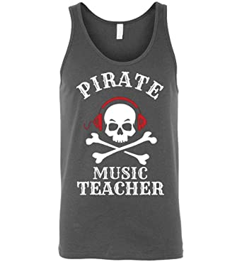 Pirate Music Teacher Halloween Tank Idea Adult and Youth Size