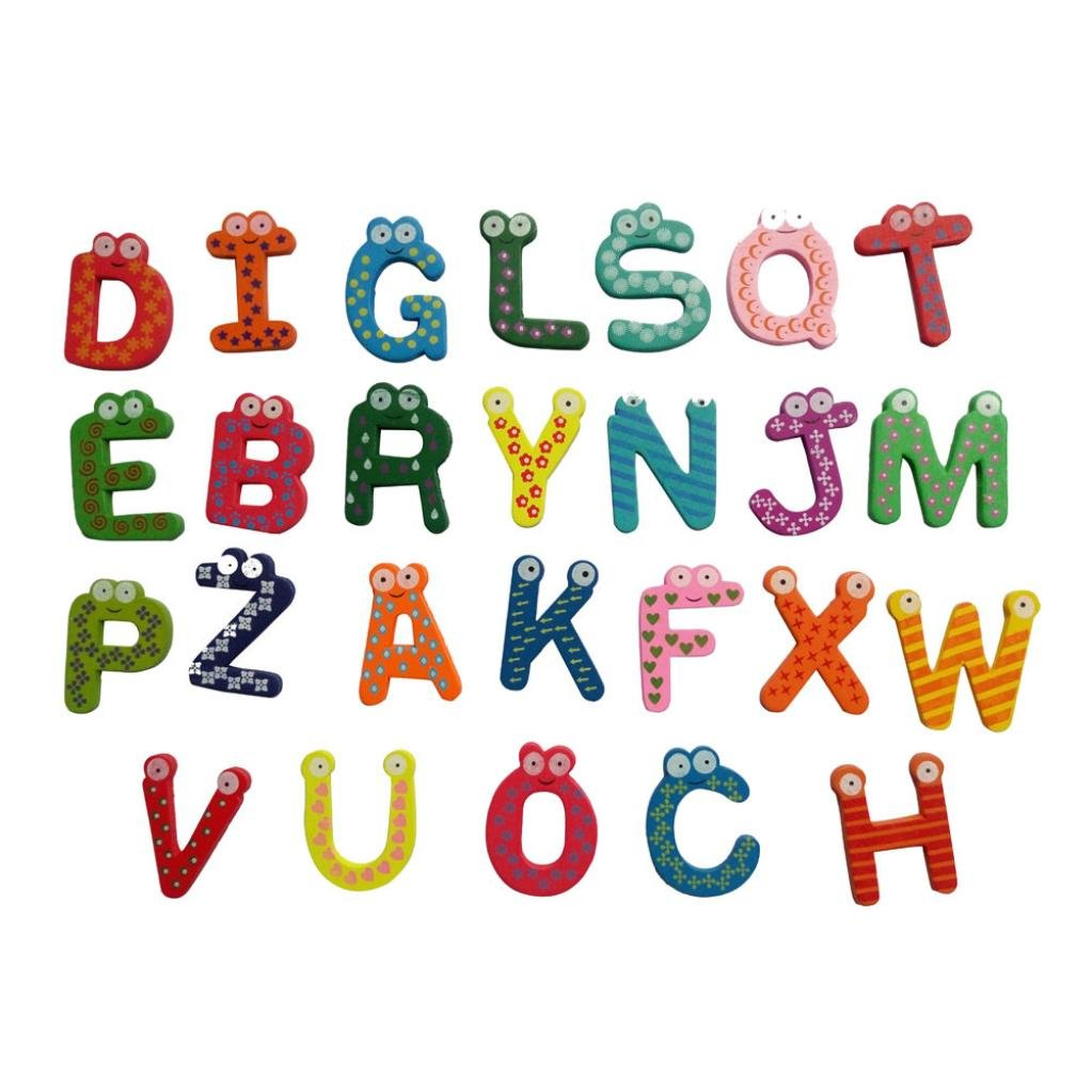 Covermason 26 pièces lettres et numéros d'apprentissage magnétiques, Jouets éducatifs pour petits enfants pour l'apprentissage préscolaire, l'orthographe, le comptage l'orthographe Coermason
