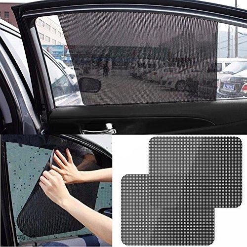 - Auto Care 2Pcs Black Side Car Sun Shades Rear Window Sunshades Cover Block Static Cling Visor Shield Screen Interior Accessories