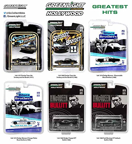 Greenlight Hollywood Greatest Hits 44711 1:64 Scale 6 Car...