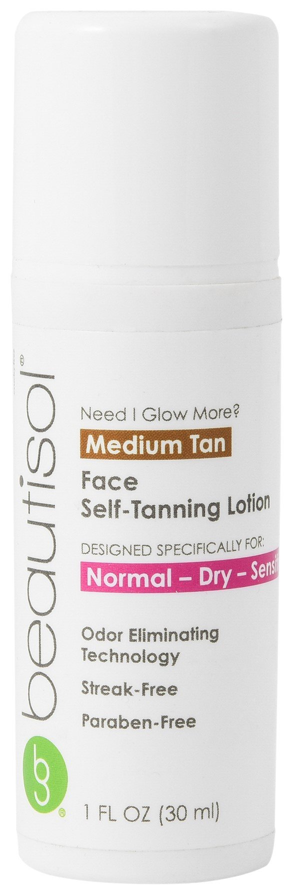 Beautisol Need I Glow More? Sunless Face Tanner for Dry Skin, 1 Ounce