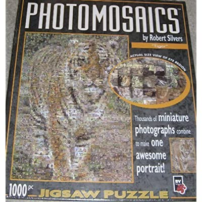 Photomosaics By Robert Silvers Tiger 1000 Piece Puzzle By Bv Leisure