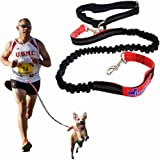 ONE DAY SALE - Professional Hands-Free Dog Leash for Running, Walking, Hiking & Biking | Best New Improved Lightweight Version | Dual Control Handles | Adjustable for Large and Small Dogs