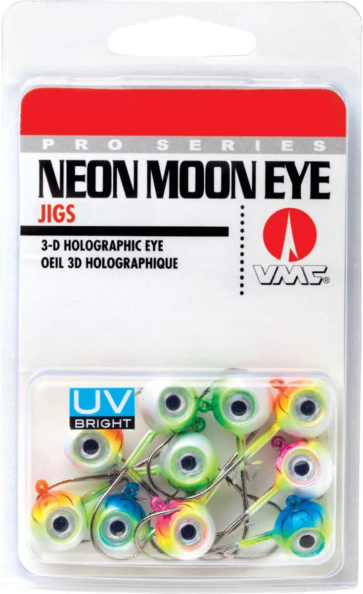 VMC Neon Moon Eye Jig UV Kit 1/8 Assorted
