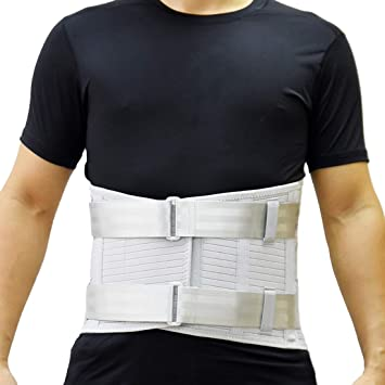 2dc58a5b Adjustable Lumbar Support Belt for Women and Men, Sciatica, Spinal  Stenosis, Scoliosis or