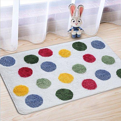 Fashion Dream Microfiber Bathroom Rug bath mats- Non-slip Soft Absorbent Decorative Bath Floor Mat Carpet Door mat.Polka Dot (Wide 20 Inch x Length 32 Inch)