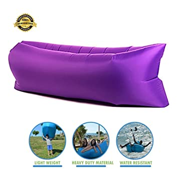Fast Inflatable Lounger, ZONV Sleeping Lazy Sofa Chair, Hangout Bean Bag,  Air Bag Sofa for Outdoor Indoor Camping Beach Hiking Office - Siesta