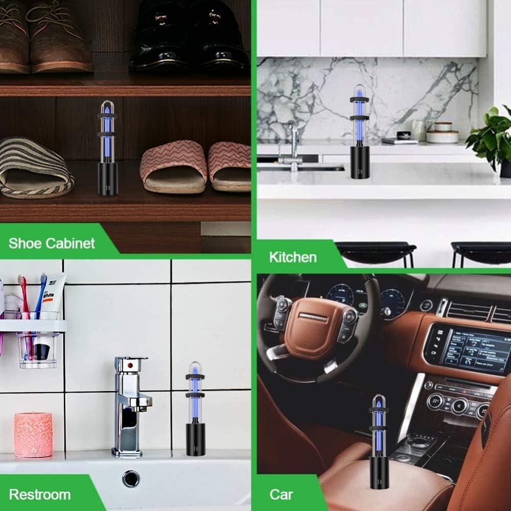 Youool L/ámpara UV port/átil recargable Mini UV Adem/ás de luz de /ácaro L/ámpara antibacteriana de ozono alimentada por USB para cocina de dormitorio de coche
