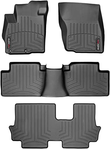 WeatherTech Custom Fit FloorLiner for Volkswagen Atlas 1st /& 2nd Row Black