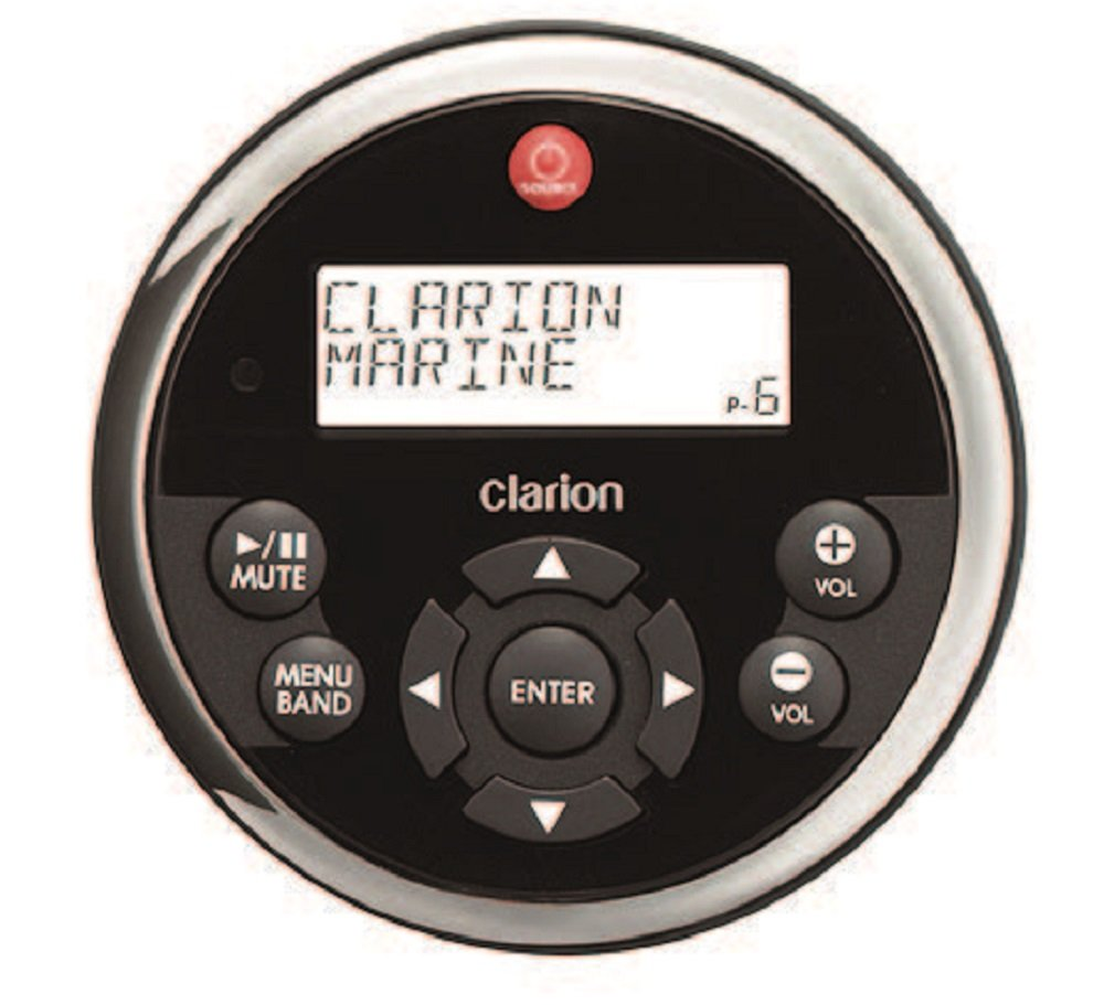 amazon com clarion mw1 watertight black face stainless steel amazon com clarion mw1 watertight black face stainless steel bezel remote lcd display for 2009 marine source units car electronics