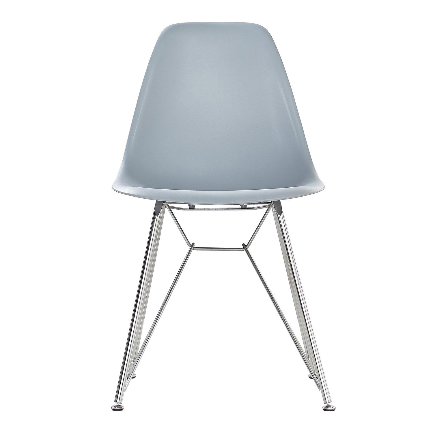 Pu0026N Homewares Valentina Eiffel Inspired Chair In Grey | For Kitchen, Living  Room, Dining Room, Bedroom, Office Etc. | Plastic Seat With Metal Legs |  (Grey ...