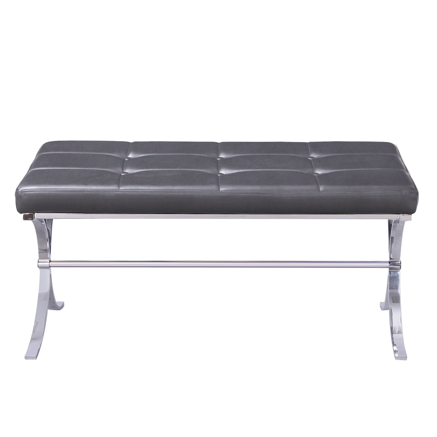 Metal Bench Entryway Footstool with Button Tufted PU  : 61Oa8g0FvHLSL1500 from www.ebay.com size 1500 x 1500 jpeg 92kB