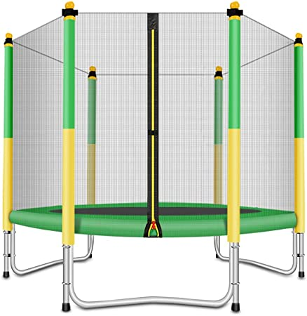 FASHIONSPORT OUTFITTERS Trampoline with Safety Enclosure -Indoor or Outdoor