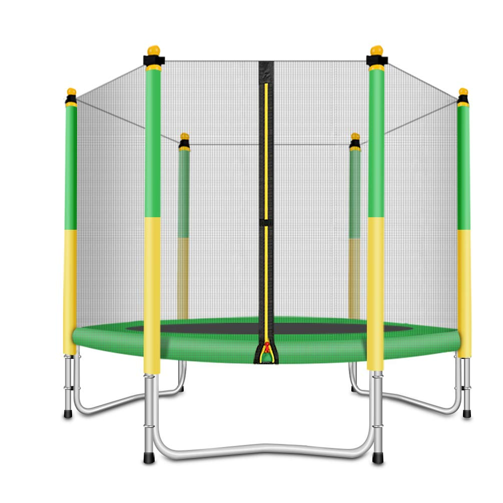 Fashionsport OUTFITTERS Trampoline with Safety Enclosure -Indoor or Outdoor Trampoline for Kids-Yellow/Green-5 feet by Fashionsport OUTFITTERS (Image #1)