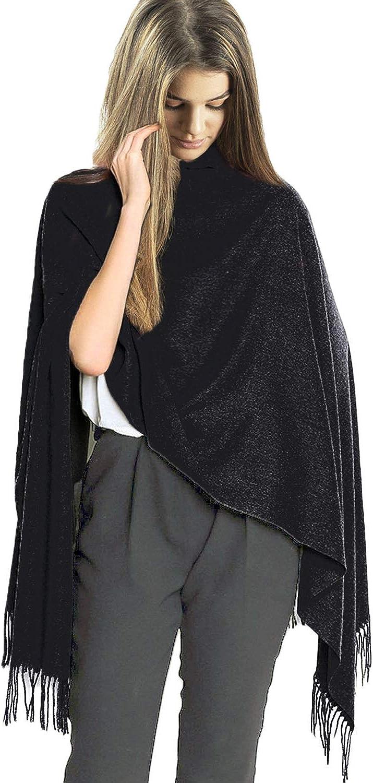 TOSKATOK Sciarpa Stola moda invernale da donna scialle in cashmere tinta unita in cashmere Supersoft