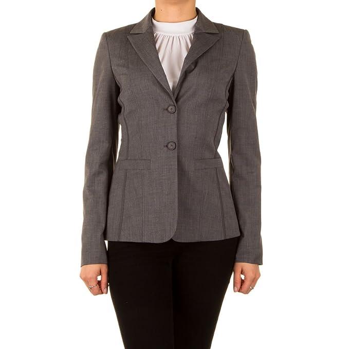 Top-Fashion-Online - Chaqueta de traje - para mujer gris 34 ...