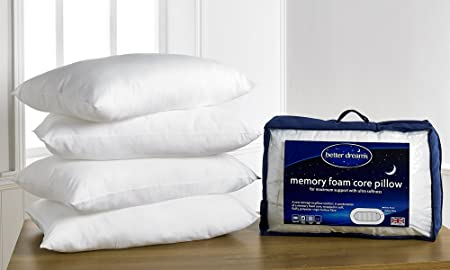 Better Dreams Memory Foam Core Pillow 2 Pack