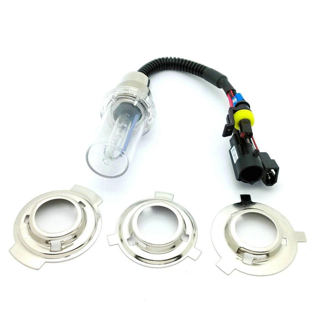 10000k Heinmo 35W Motorcycle HID Headlight Kit H6M H4 BA20D Bi-Xenon Hi//Lo Light Bulb Kit Set