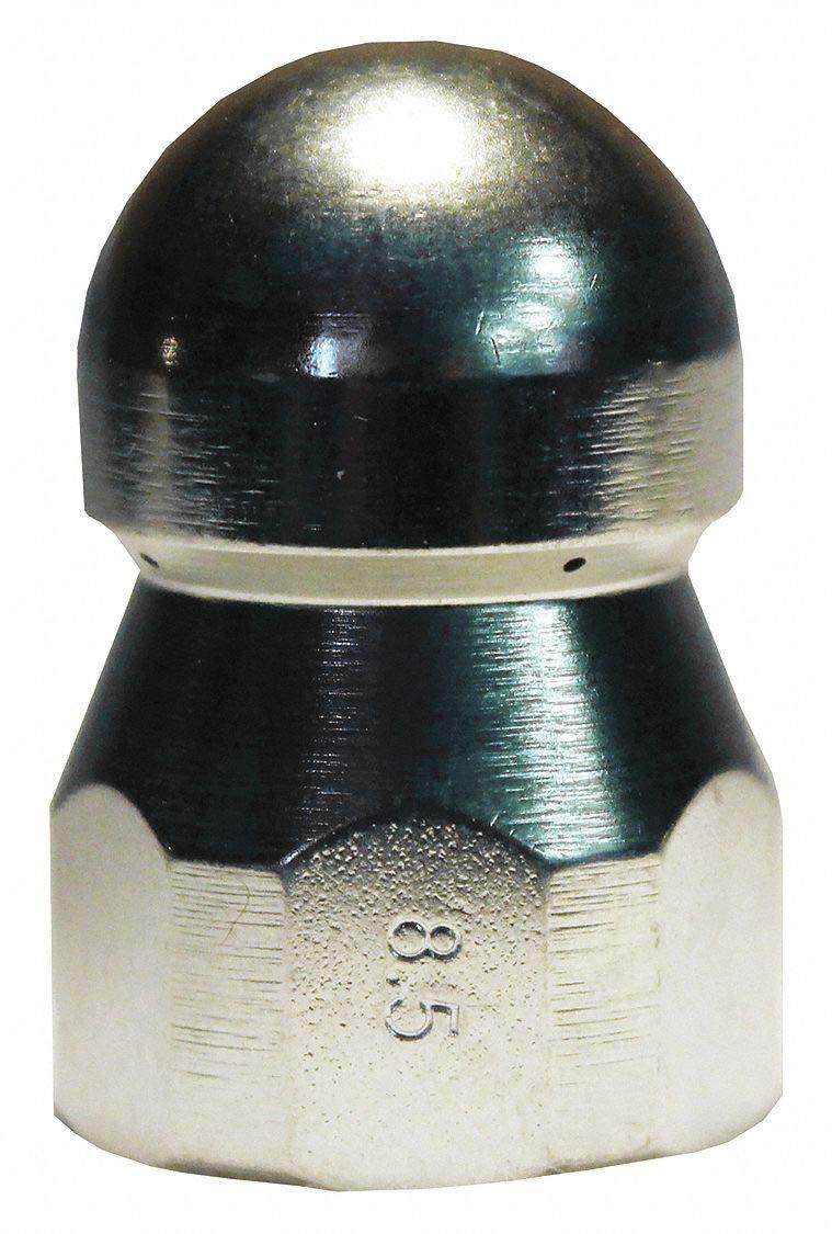 Sewer Nozzle, Nozzle Size: 8.5, Max Pressure: 5000 psi, 1 EA