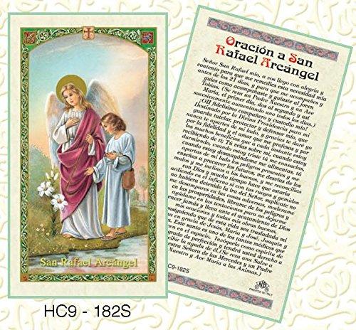 Oracion a San Rafael Arcangel Paper Prayer Cards - Pack of 100 - - San Stores Rafael