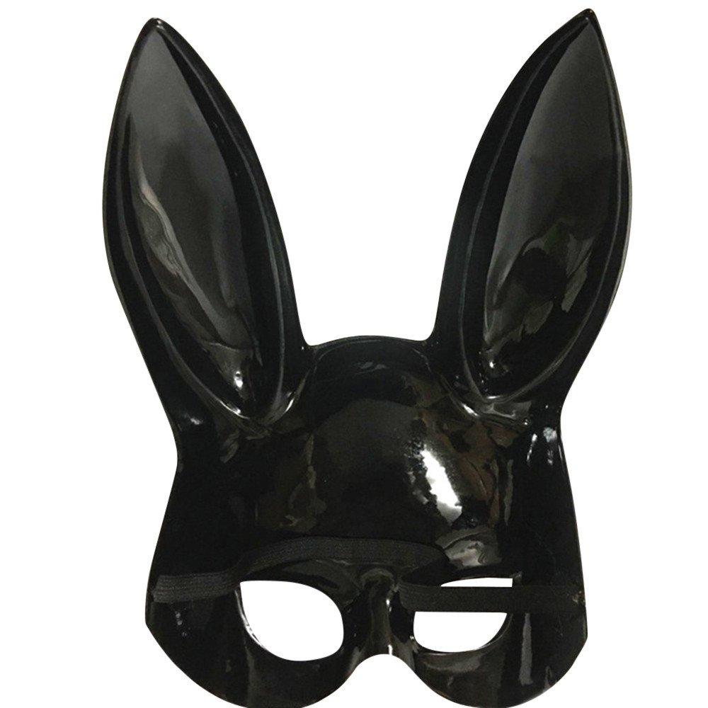 Blanco,Negro Mascara de Halloween Art/ículos Decorativos M/áscara de Mujeres para Halloween Veneciano Carnaval Fiesta de Baile Beikoard/_M/áscara de Conejo Luz Brillante Carnaval Pascua