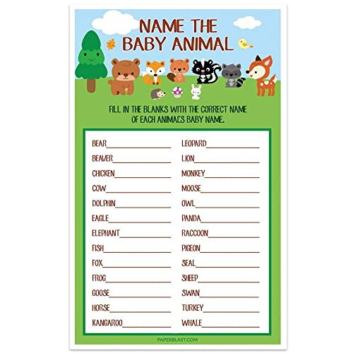 Amazon Com Woodland Creatures Forest Baby Shower Game Name The