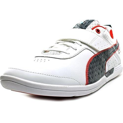 Puma BMW Ms Mch Lo - Zapatillas de Running de Piel para Hombre White-BMW-Team Blue-High Red Taglia Scarpa Blanco Size: 43: Amazon.es: Zapatos y complementos