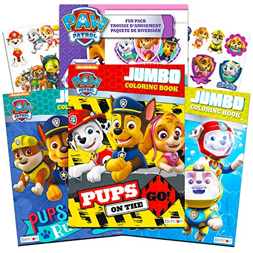 Paw Patrol Coloring and Activity Book Set  with Bonus Paw Pa