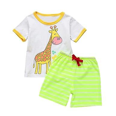 59d77ac529b Amazon.com  G-real Baby Boys Toddler Kids 2PC Cute Cartoon Print T ...