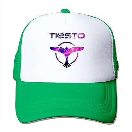Nquqiyilu Men s Tiesto Band Logo Casual Style Jogging KellyGreen Mesh Cap  Adjustable Snapback e9f806adf3c
